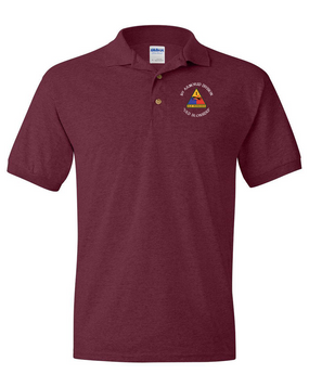 1st Armored Division Embroidered Cotton Polo Shirt (OS)