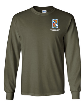 198th Light Infantry Brigade Long-Sleeve Cotton T-Shirt (OS)