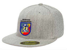 "3-82nd Aviation ""Crest/Flash""  Embroidered Flexfit Baseball Cap"