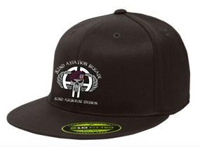 "82nd Aviation ""Punisher""  Embroidered Flexfit Baseball Cap"