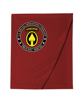 US Special Operations Command  Embroidered Dryblend Stadium Blanket-Proud
