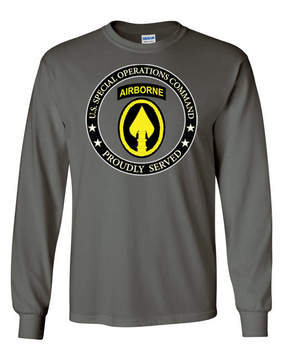 US Special Operations Command Long-Sleeve Cotton T-Shirt-15558