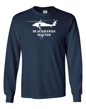 BLACKHAWKS MATTER Long-Sleeve Cotton T-Shirt