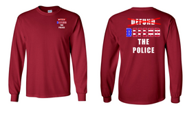 """""""DEFEND THE POLICE""""  Long-Sleeve Cotton Shirt"""