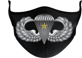 US Army Basic Wings w/ Combat Jump Mask