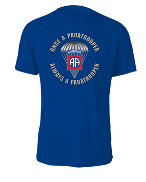 """82nd Airborne """"Once a Paratrooper""""  Cotton T-Shirt (FF)"""