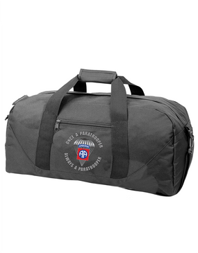 """82nd Airborne """"Once a Paratrooper"""" Embroidered Duffel Bag"""