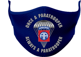 """82nd Airborne """"Once a Paratrooper""""  Mask"""