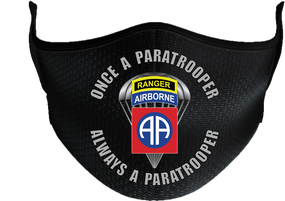 "82nd Airborne ""Once a Paratrooper-Ranger""  Mask"
