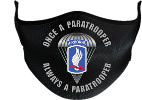"173rd  Airborne ""Once a Paratrooper""  Mask"