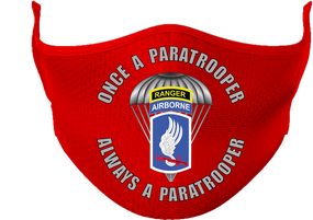 "173rd  Airborne ""Once a Paratrooper-Ranger""  Mask"