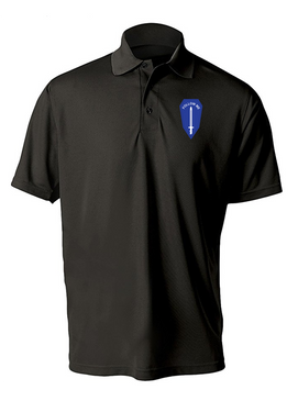U.S. Army Infantry School Embroidered Moisture Wick Polo Shirt