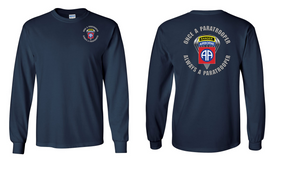 """82nd Airborne """"Once"""" Ranger Long Sleeve Cotton Shirt"""