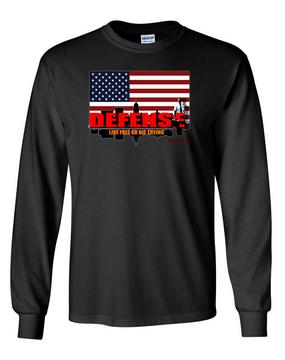 DEFENSE Long-Sleeve Cotton Shirt