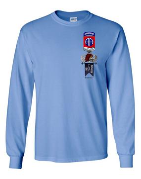 "A Company 1-504th ""Master"" Long-Sleeve Cotton Shirt"