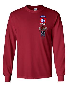 "A Company 1-504th ""Senior"" Long-Sleeve Cotton Shirt"