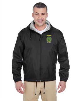 PR ROTC Embroidered Fleece-Lined Hooded Jacket