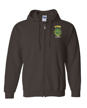 PR ROTC Embroidered Hooded Sweatshirt with Zipper
