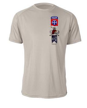 "C Company 1-504 ""Master"" Parachute Infantry Regiment Moisture Wick Tee"