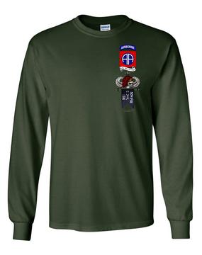 "C Company 1-504 Long-Sleeve ""Senior"" Cotton Shirt"