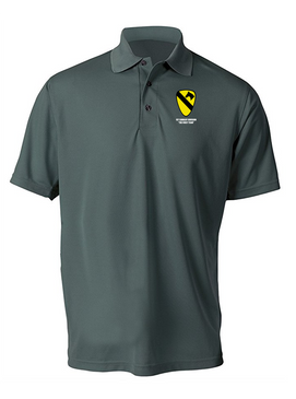 1st Cavalry Division (Garry  Owen)  Embroidered Moisture Wick Polo