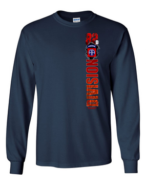 "82nd Airborne Division ""Battle Streamer"" Long Sleeve Cotton Shirt"