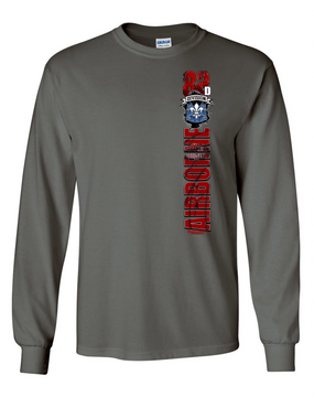 "82nd Airborne Division Hqtrs & Hqtrs ""Battle Streamer"" Long Sleeve Cotton Shirt"