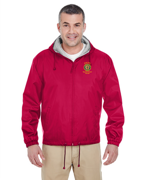 Post 164 Embroidered Fleece-Lined Hooded Jacket