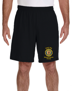 Post 164 Embroidered Gym Shorts