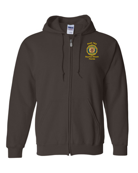 Post 164 Embroidered Hooded Sweatshirt with Zipper
