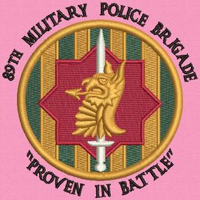 89th Military Police Brigade Embroidered Moisture Wick Polo