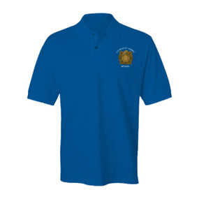 "9th Infantry Regiment ""MANCHUS"" Embroidered Cotton Polo Shirt"