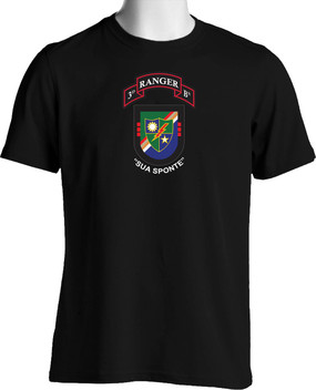 "3-75th Ranger Battalion ""New Flash"" (Chest) Cotton Shirt"