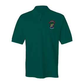 "1-75 Ranger Battalion ""New Flash""  Embroidered Cotton Polo Shirt"