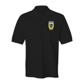 "504th Parachute Infantry Regiment ""Crest & Flash""  Embroidered Cotton Polo Shirt"