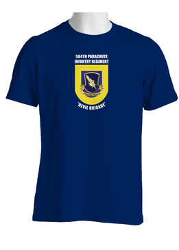 "504th Parachute Infantry Regiment ""Crest & Flash""  (Chest) Cotton Shirt"