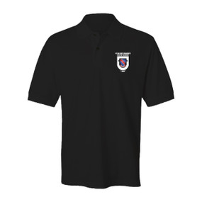 "1-508th Parachute Infantry Regiment  ""Crest & Flash""  Embroidered Cotton Polo Shirt"