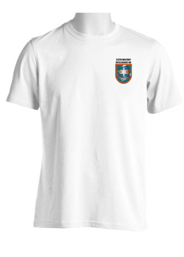 "313th Military Intelligence Battalion (ABN)  ""Flash & Crest"" (Pocket)  Moisture Wick Shirt"