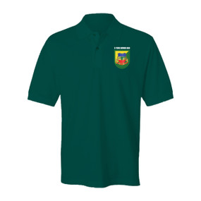 "3-73rd Armor (ABN) ""Flash & Crest""  Embroidered Cotton Polo Shirt"