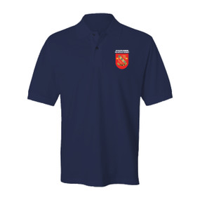 """1-319th Airborne Field Artillery Regiment """"Crest & Flash"""" Embroidered Cotton Polo Shirt"""