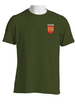 "4-319th Airborne Field Artillery Battalion ""Crest & Flash""  Cotton Shirt (Pocket)"