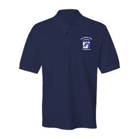 18th Airborne Corps Embroidered Cotton Polo Shirt