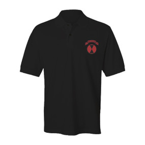 "27th Infantry Regiment ""Wolfhounds"" (Full-Color) Embroidered Cotton Polo Shirt"