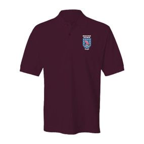 "2-327th ""Crest & Flash"" Embroidered Cotton Polo Shirt"