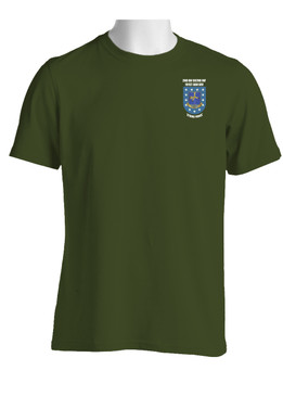 "2-502nd Parachute Infantry Regiment ""Crest & Flash"" Cotton Shirt"