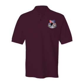 327th Infantry Regiment Embroidered Cotton Polo Shirt (1)