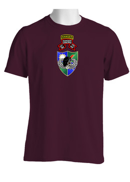 1-75 Ranger Battalion DUI-Original Scroll-Black Beret w/ Ranger Tab  Cotton Shirt  (FF)