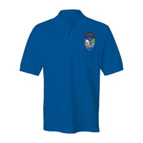 3-75 Ranger Battalion DUI-Tan Beret Embroidered Cotton Polo Shirt