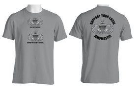 Support Your Local Jumpmaster (Senior Wings ) Cotton T-Shirt