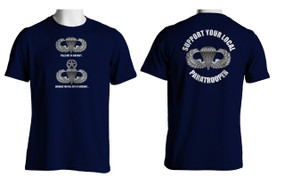 Support Your Local Paratrooper Cotton T-Shirt